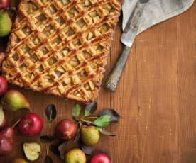 Tarte de maçã e pêra