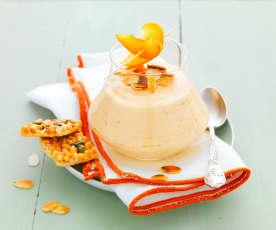 Mousse d'abricot aux amandes