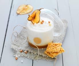 Mousse poire-caramel beurre salé