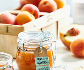 Pfirsich-Aprikosen-Konfitüre