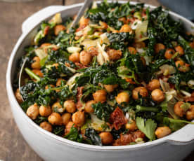 Cavolo Nero and Roasted Chickpea Salad
