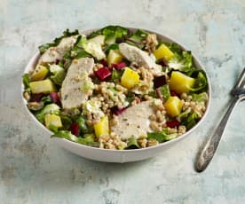 Chicken and Farro Harvest Salad