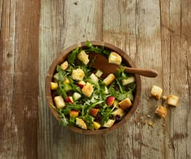 Nectarine and Cherry Panzanella Salad