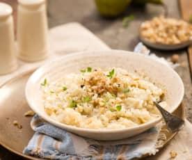 Risotto z gruszkami i serem gorgonzola