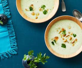 Petersilien-Rahm-Suppe