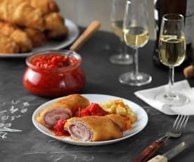 Flamenquines cordobeses con compota de tomate