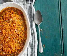 Estufado de lentilhas com legumes