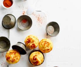 Muffins de milho e salmão