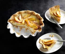 Country Peach and Custard Pie