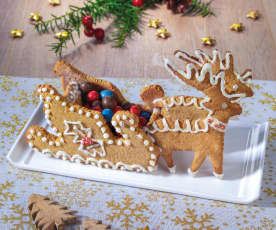 Slitta di Natale di pan di zenzero