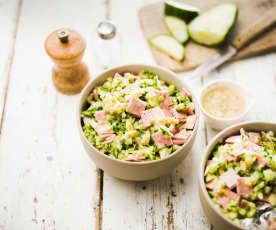 Mortadella-Gurken-Salat