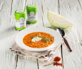 Pannonische Krautsuppe (vegetarisch)