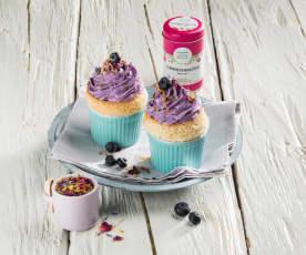 Zitronen-Heidelbeer-Cupcake 'Almwiese'