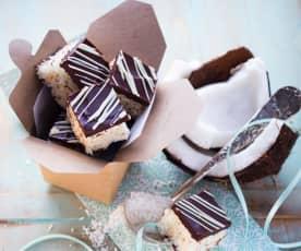Čokoládovo-kokosové kostky