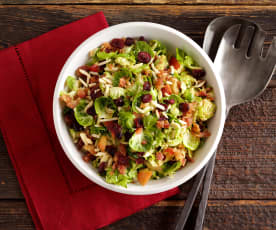 Brussel Sprouts Salad with Cranberries and Almonds