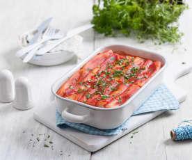 Makaron cannelloni nadziewany serem ricotta