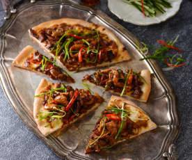 京醬肉絲披薩