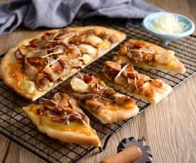 麻油松阪豬披薩