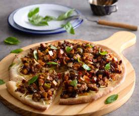 魚香豆干披薩