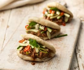 Leftover Roast Bao Buns with Hoisin Sauce