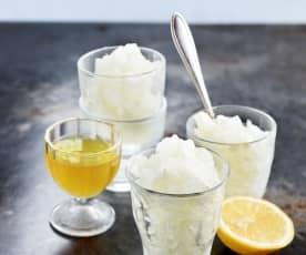 Sorbet au citron et au limoncello