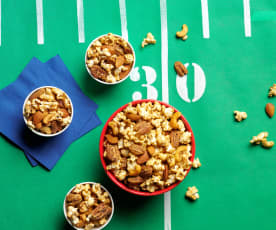 Spicy Nuts and Popcorn Party Mix