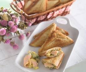 燻鮭魚塔塔醬全麥三明治