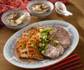 香滷牛肉拼盤&鮮菇紅棗雞湯盅
