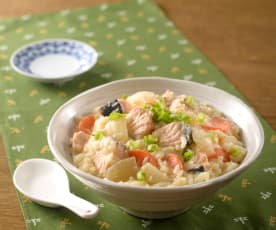 鮭魚味噌雜炊