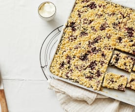 Mohn-Preiselbeer-Kuchen