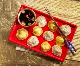 Steamed Cabbage and Pork Dumplings