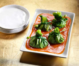 Stuffed Cabbage Parcels (Emerald Red Jade Bags)