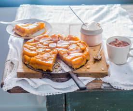 Tarte Tatin aux pommes et caramel aux cacahuètes