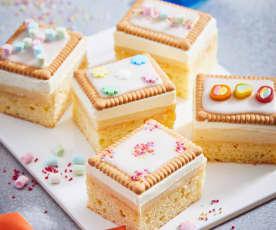 Butterkekskuchen mit Puddingfüllung