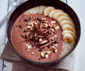 Smoothie bowl choco-noisette au grué de cacao