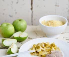 Lombinho de porco com maçã e cuscuz