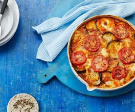 Auberginen-Auflauf mit Tomaten-Sugo