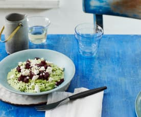 Petersilien-Risotto mit Roter Bete
