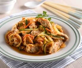 韓式泡菜炒雞肉