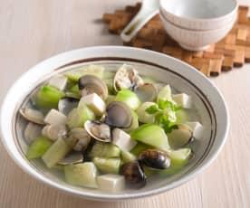 絲瓜蛤蜊豆腐湯