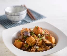 魚香茄子炒豆腐