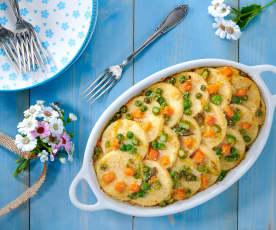 Gnocchi di semolino con ragù di verdure