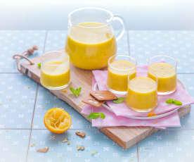 Smoothie menthe, mangue, vanille et citron bergamote