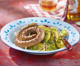 Grillschnecke mit Kartoffelsalat