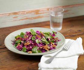 Purple Cabbage with Pecan Salad