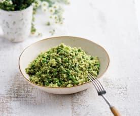 Salada de cuscuz com ervilhas