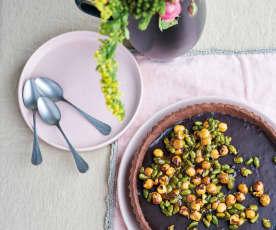Tarte de chocolate e praliné