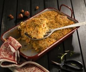 Pikanter Reisauflauf mit Gemüse und Mozzarella