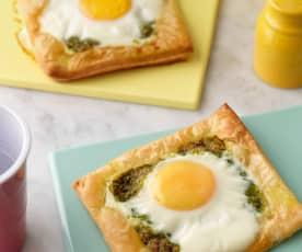 Pesto Baked Eggs