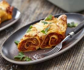 Überbackene Bolognese-Pfannkuchen